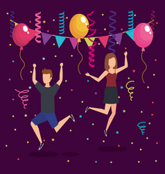 people on a party design vector image