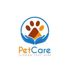 pet care circle logo icon symbols and app icon vector image
