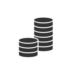 Pile coins black icon vector