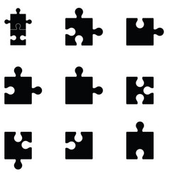 puzzle icon set vector image