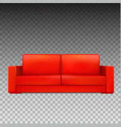 Red modern luxury sofa for living room reception vector