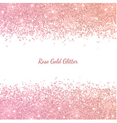 Rose gold glitter with color effect vector