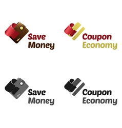 Save money with coupons vector image