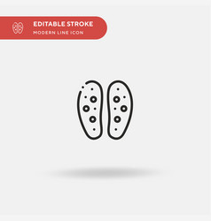 soles simple icon symbol vector image