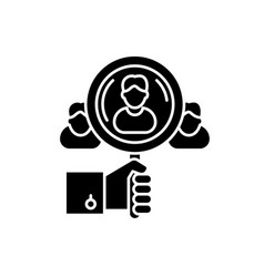 Talent search black icon sign on isolated vector