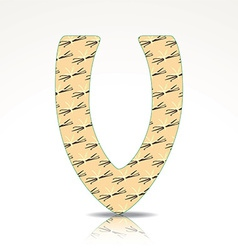 the letter v alphabet made vanilla vector image