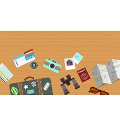 Travelling objects background vector image