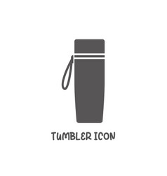 tumbler icon simple flat style vector image