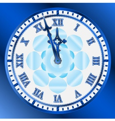 vintage clocks face vector image