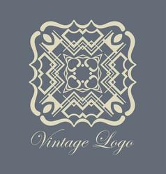Vintage ornamental logo vector