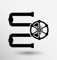 Water Pipeline Business icon button logo symbol vector