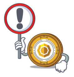 with sign komodo coin character cartoon vector image