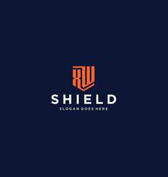 Xw shield logo vector
