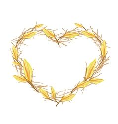 Yellow Equiphyllum Flowers in Heart Shape Frame vector image