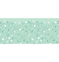 Blossoming Branches Horizontal Seamless Pattern vector image vector image