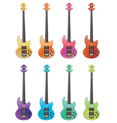 Electric Guitars2 vector image vector image