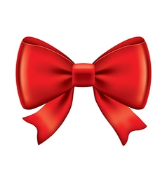 object red bow vector image vector image