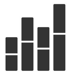 Bar Charts Flat Icon vector image
