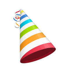 colored party hat vector image