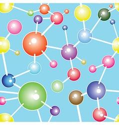 Molecule seamless communication background vector