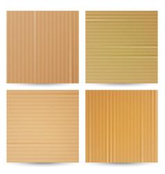 cardboard textures set realistic paper vector image