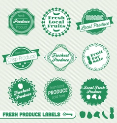Fresh Produce Labels vector image vector image
