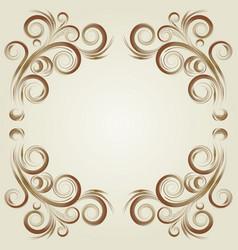 vintage frame elements vector image vector image