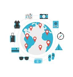 228world travel vector image