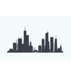 Chicago skyline silhouette vector image