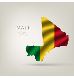 flag of Mali as the country vector image