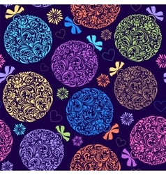 pattern with colorful christmas ball vector image vector image