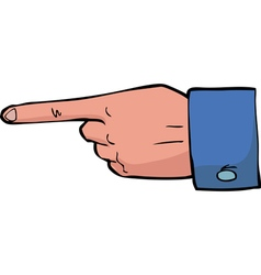 point the finger vector image vector image