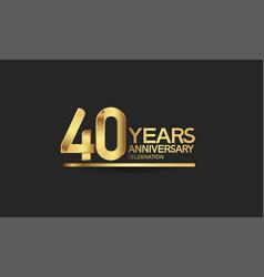 40 years anniversary celebration with elegant vector