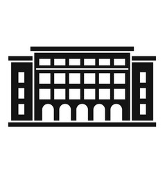 Academy building icon simple style vector