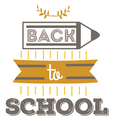 back to school badge cool trendy school logo with vector image
