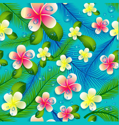 Beautiful seamless floral jungle pattern vector