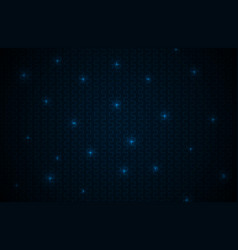 black abstract background with blue lines neon vector image vector image