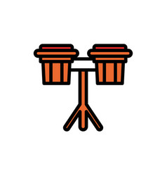 Bongo filled line icon vector