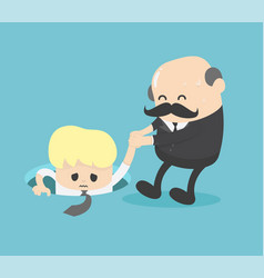 businessman who is helping a friend who falls vector image