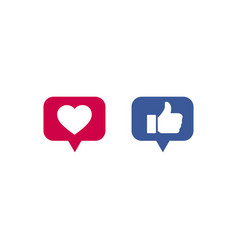 button icons like on social media sites vector image