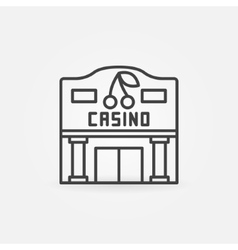 Casino building line icon vector