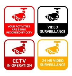 Cctv pictograph video surveillance set symbol vector