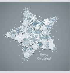 christmas greeting card design a star from vector image