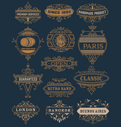 classic banners set vector image