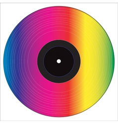 colored vinyl disc vector image