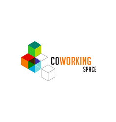 Coworking space networking zone logo and icon vector