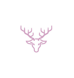 creative geometric abstract purple deer logo vector image