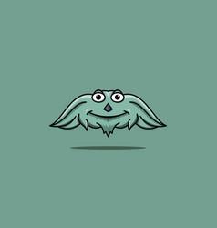 Cute cartoon monster vector