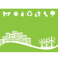 Eco city vector