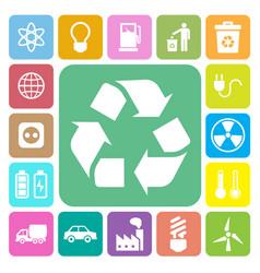 Eco energy icons set vector